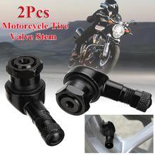 22x Black Wheel Tire Stem CNC Motorcycle 90 Degree Angle Tubeless Valve Aluminum