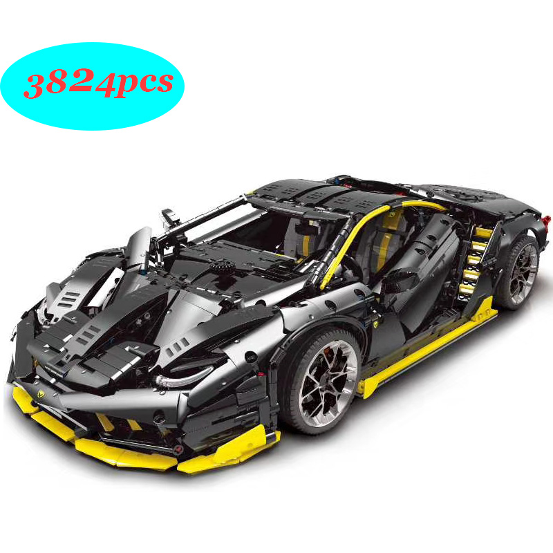 New Lamborghini 100 year Centenario 1:8 hypercar Super Racing <font><b>Car</b></font> Fit Lepinings Technic moc-39933 Model Building Blocks Toy Gift image