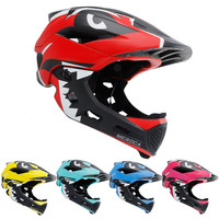 Slide Bicycle Children's Balance Bike Shark Full Face Ultra light Girl Boy Protection Chin Riding Skating Helmet