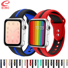 CRESTED silicone strap band for apple watch 42mm/38 Double color rubber bracelet iwatch series 1/2