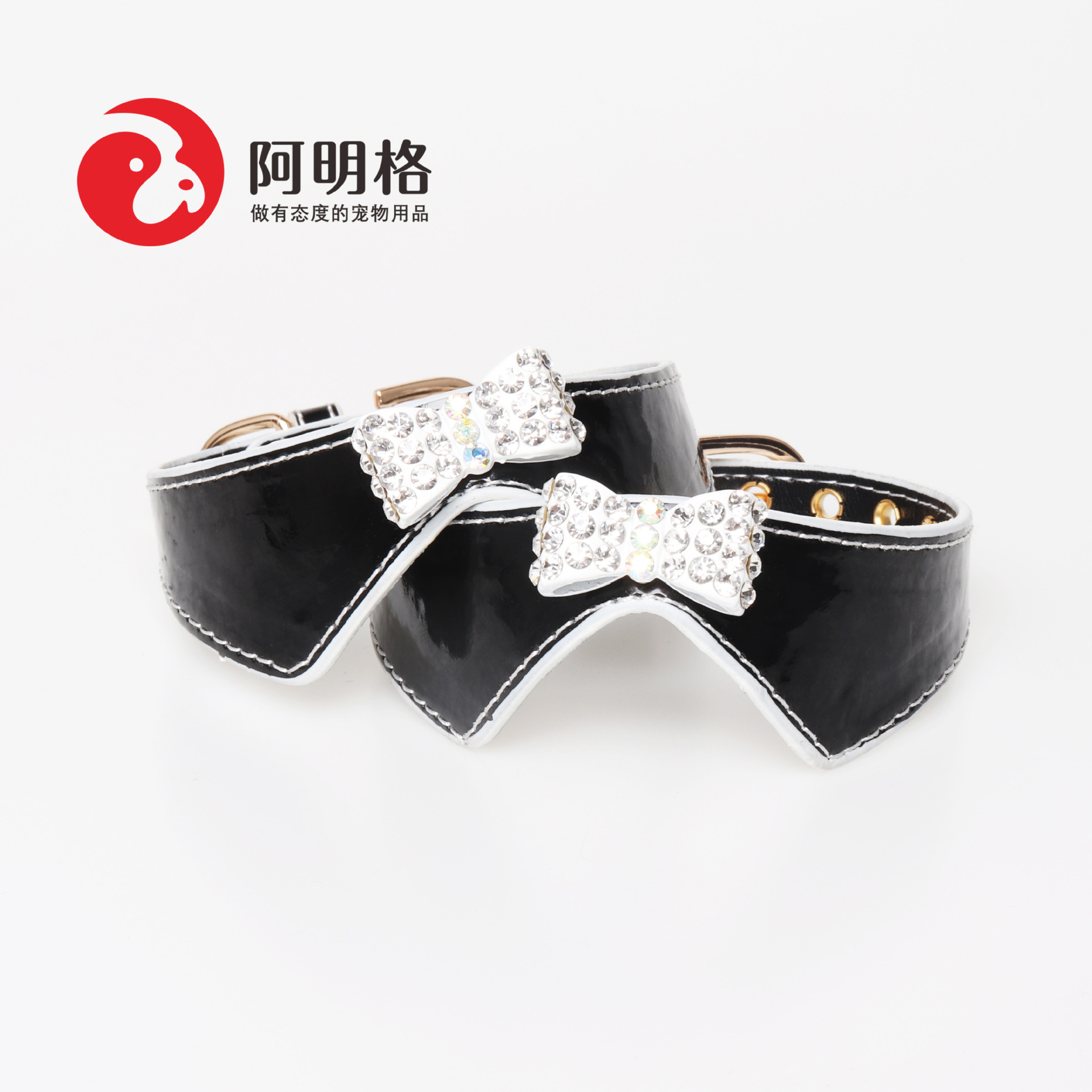 Manufacturers Direct Selling Collar Bow Pet Collar With Diamond Dog Collar