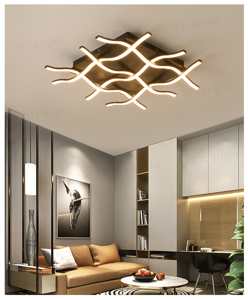 H4fe090d52a584644a382a9c3240c71abv Homelight | Modern Floor Lamps | Creative Modern LED Ceiling Lights For Living Room Bedroom Kitchen Black/White Deco Ceiling Lamp Indoor Home Lighting Fixtures 001
