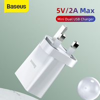 Baseus Mini UK USB Charger Quick Charge For iPhone XS 11 Max Portable Mobile Phone Wall Charger For Huawei Xiaomi Travel UK Plug|Mobile Phone Chargers| |  -