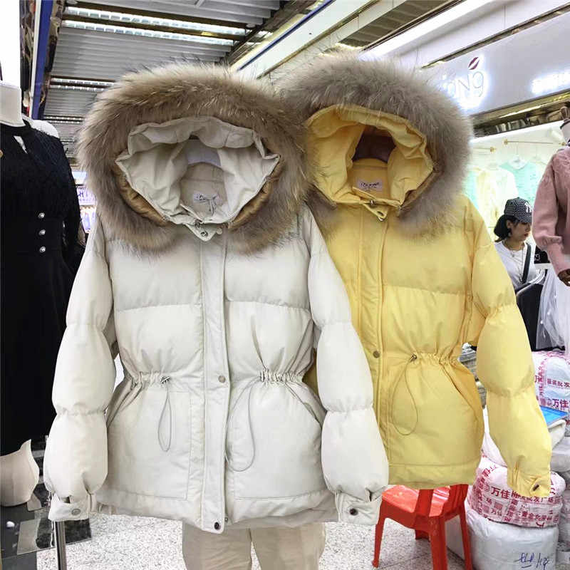 2019 New Women Winter Short Jacket Mujer Hooded Parkas Winter Coat Women Loose Parka Fur Collar Cotton Padded Jackets