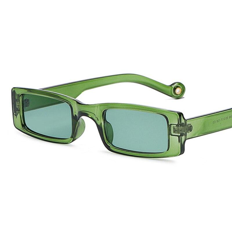 Солнечные очки в ретро-стиле для мужчин и женщин, прозрачные зеленые маленькие квадратные солнцезащитные аксессуары в винтажном стиле, с ле...