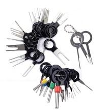 41 adet araba elektrik terminali iğne fişi devre kablo çekme konektörü Pin Extractor temizleme sökücü onarım aracı