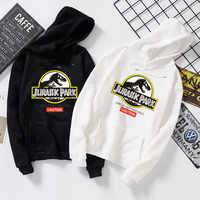 Jurassic park dinosaur Shirt autumn winter Coat student sports Sweatshirt women shirts Hoodies Overcoat Couple shirt S-3XL