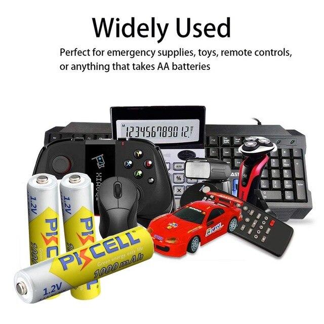 10PCS PKCELL 1.2v NI-MH AAA Battery 3A 1000MAH AAA Rechargeable Battery aaa nimh battery batteries rechargea for flashlight toys 6