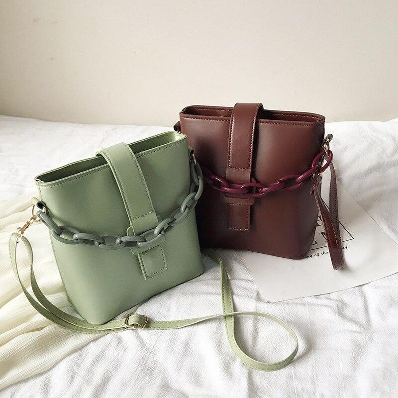 Popular Luxury Handbags Women 2020 Spring And Summer New Wave Korean One Shoulder Slung Chain Bag Fashion Bucket Bags Designer