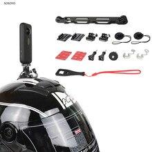 オートバイヘルメットベースブラケット乗馬延長ロッド取付 insta360 用 1 × アクションスポーツカメラアクセサリー