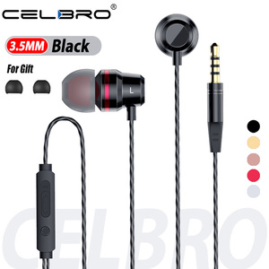 Clear Bass Stereo In-Ear Earphones 3.5mm Jack Auriculares Wired Headphones Headset Earbuds With MIC For Iphone Samsung Xiaomi PC(China)