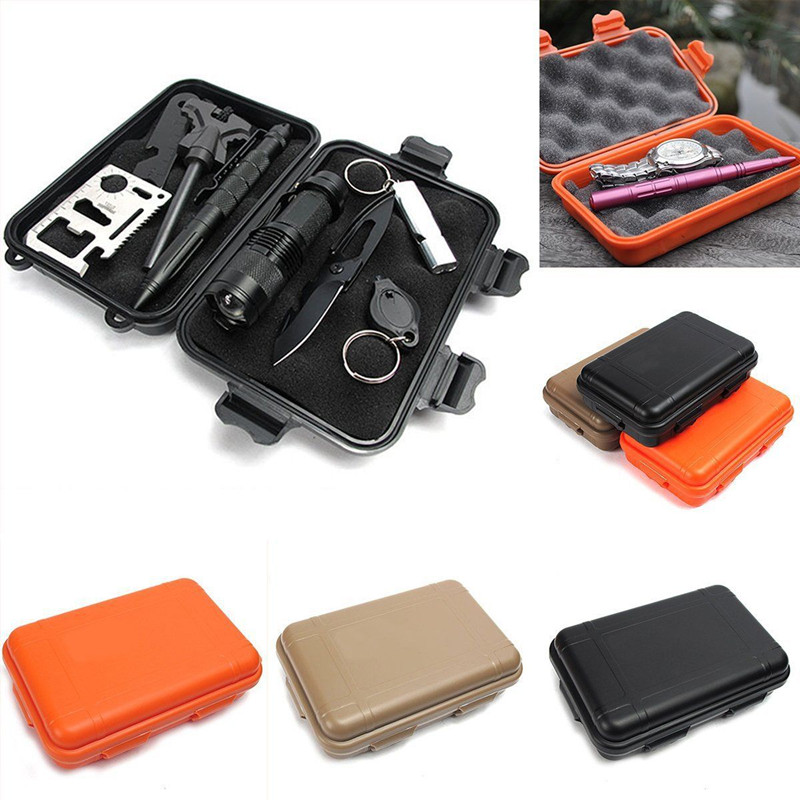 EDC Gear Waterproof Box Kayak Storage Outdoor Camp Fish Trunk Airtight Container Carry Travel Seal Case Bushcraft Survival Kit