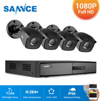 SANNCE 8CH CCTV Security System 4PCS 1080P Weatherproof Night Vision IR Cut CCTV Cameras Video Surveillance Kit For RU Stock