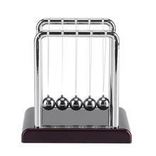 School Kinderen Swing Pendulum Plastic Early Development Educatief Bureau Speelgoed Newtons Cradle Steel Balance Natuurkunde Bal(China)