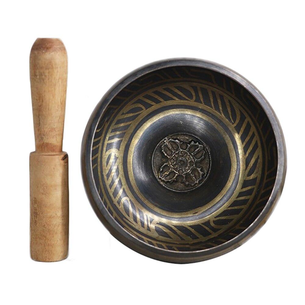 Buddhism Accessory Tibetan Meditation Hammered Alms Bowl Yoga Sound Therapy Chakra Singing Bowl New