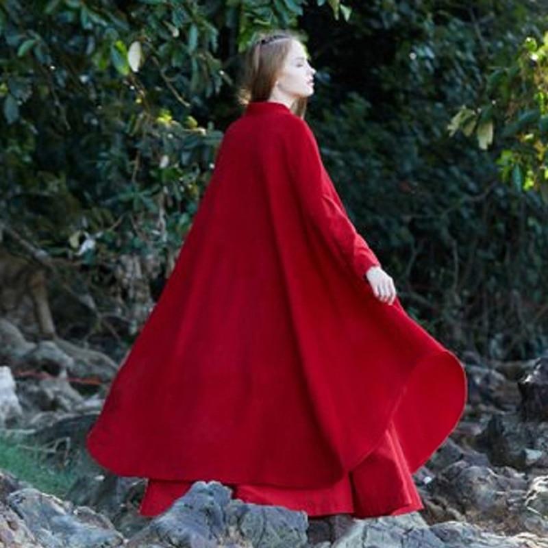 Новая шерстяная куртка, Женское шерстяное пальто, зимняя утолщенная ветровка, свободное теплое пальто большого размера, плащ, Длинные куртк...