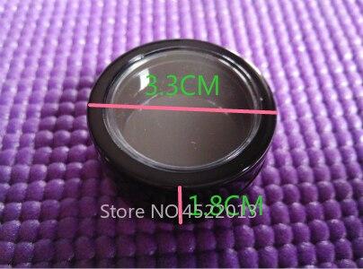 2g 5g 50pcs100pcs preto redondo cosmeticos sombra 01
