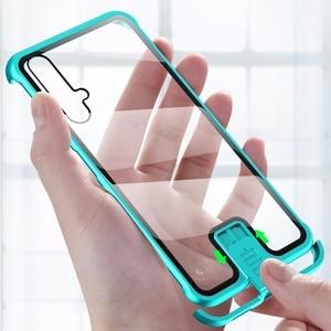 Image 1 - Coque pour Huawei Honor 20 Pro Nova 5T 5 couverture luxe métal pare chocs 9H verre trempé pleine protection kimTHmall