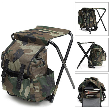 Outdoor Casual Portable Mountaineering Backpack Chair Foldable Fishing Stool Compact Folding Chair for Fishing, Camping, Hiking, folding portable outdoor fishing chair backpack playing climbing outdoor portable folding stool backpack high quality