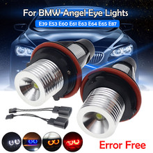 2 светодиодный т. Светодиодные Автомобильные Габаритные огни Angel Eyes для BMW E39 E53 E60 E61 E63 E64 E65 E66 E87 525i 530i xi 545i M5 без ошибок 2*5 Вт