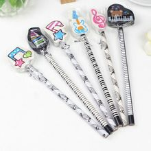 6pcs Musical Note Pencil 2B Standard Round Pencils Piano Notes Eraser Writing Drawing Tool Stationery School Student Gift 8pcs writing drawing pencil musical note pendant pencil sketch painting non toxic pencils for school students stationery
