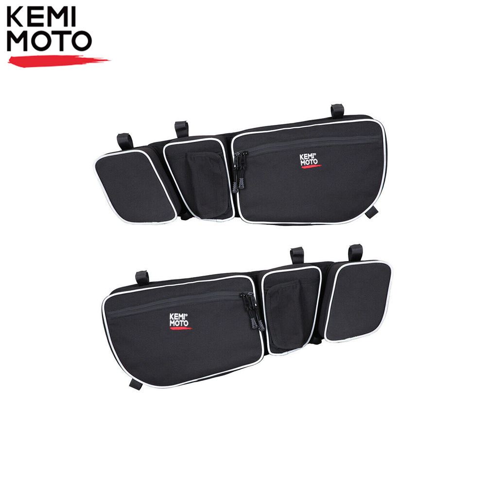 KEMiMOTO UTV Door Bags Passenger And Driver Side Storage Bag Knee Pad For Can Am Maverick X3 Max R Turbo DPS 4x4 2017 2018