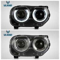 VLAND factory for car headlight for Challenger LED head lamp 2015 2016 2017 with turn signal+DRL