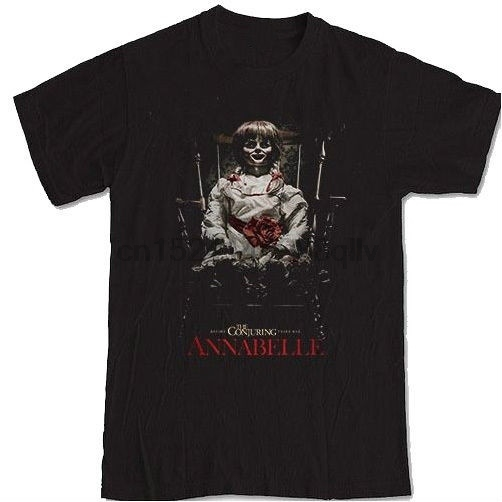 Mens Annabelle Doll Horror Movie Tee T Shirt in T Shirts from Men 39 s Clothing