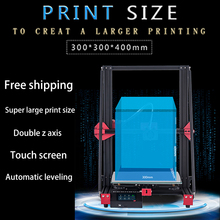 3D Printer High Precision printing professional large Size 300*300*400Touch Screen dual z axis cheap diy prusa i3 3d priters kit support resume after power off creality cr 10 mini 3d printer large prusa i3 kit diy 300 220 300mm desktop education 3d printer