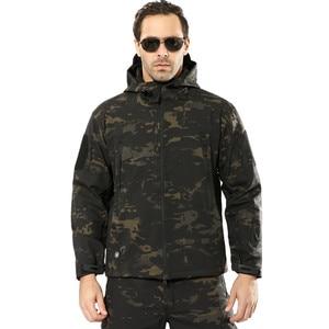 Image 3 - Military Jacket Men Winter Camouflage Tactical Waterproof Windbreaker Hooded Male Camo Coat Plus Size 5XL Bomber Army Jacket Men
