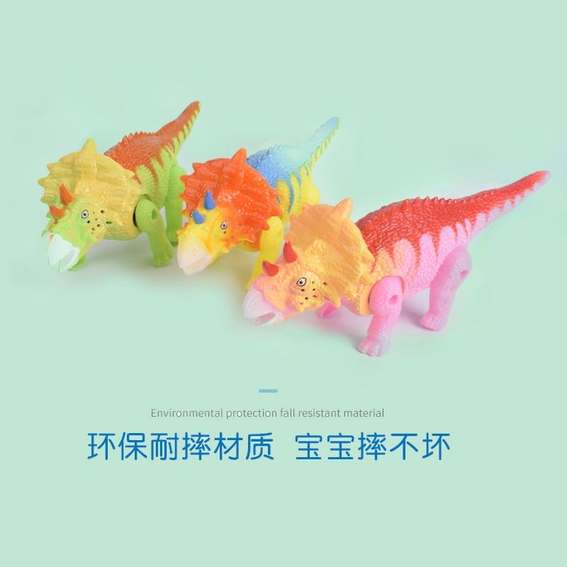 Stall Hot Selling Electric Leash Triangular Tangential Belt Light Music Walk Doll Bracing Wire Dinosaur CHILDREN'S Toy