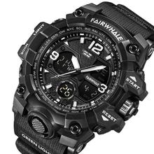 Men #8217 s Digital Wristwatches Waterproof Fashion Casual Outdoor Sport Watches Multifunction Chrono Alarm Clock 5Bar Watches cheap NoEnName_Null Plastic CN(Origin) 24cm Buckle ROUND 21mm 17mm Resin Stop Watch Shock Resistant LED Display luminous Auto Date