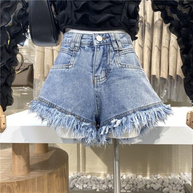 Hot sale summer woman denim shorts high waist ripped jeans shorts fashion sexy female shorts S-2XL drop shipping new 2