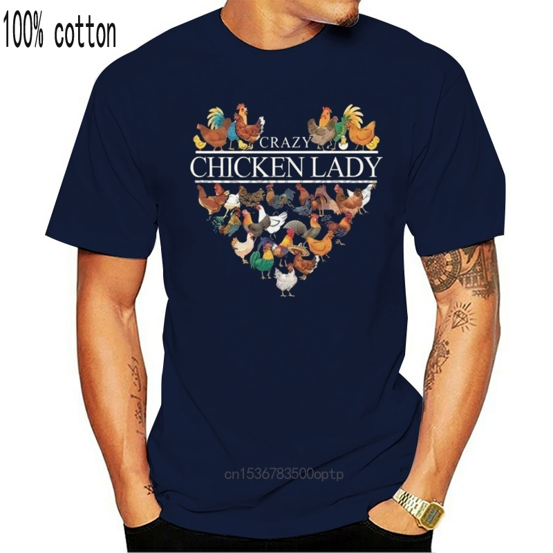 Сумасшедшая курица леди забавная курица футболка для любителей вина Черная хлопковая Для мужчин S 6Xl Сделано в США