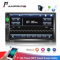 "AMPrime 2din Auto Radio 7 ""HD Player MP5 Touchscreen Digital Display Bluetooth Multimedia Autoradio Spiegel Link FM Media stereo"