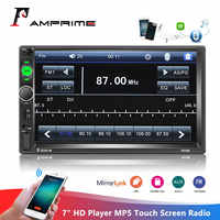 "AMPrime 2din Car Radio 7"" HD Player MP5 Touch Screen Digital Display Bluetooth Multimedia Autoradio Mirror Link FM Media Stereo"