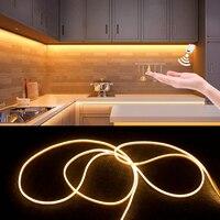 Sensor de barrido manual debajo del armario, luz Led de 12V, tira de señal de neón para el hogar, lámpara de pared inteligente de cocina impermeable, luces de noche de armario