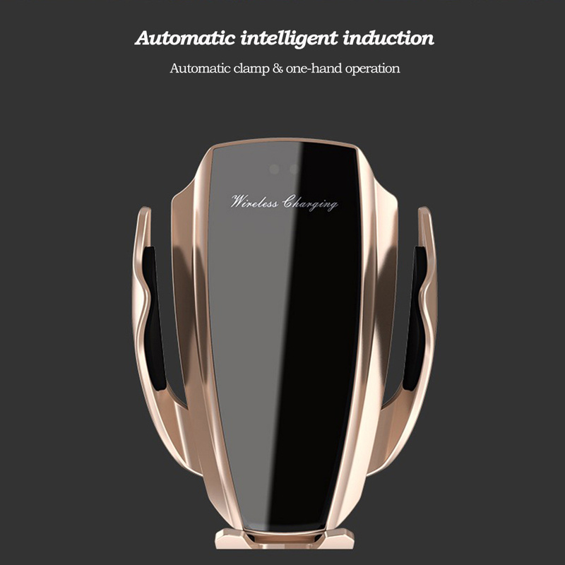 Image 2 - Automatic Clamping 10W Car Wireless Charger For iPhone Xs Huawei LG Infrared Induction Qi Wireless Charger Car Phone HolderCar Chargers   -