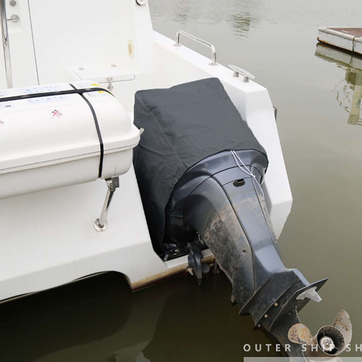 Audew 300D Водонепроницаемый подвесной черный мотор лодочный двигатель протектор лодочный мотор/Защитная крышка для капота двигателя для 115-225 лодочных моторов 71x48x69 см