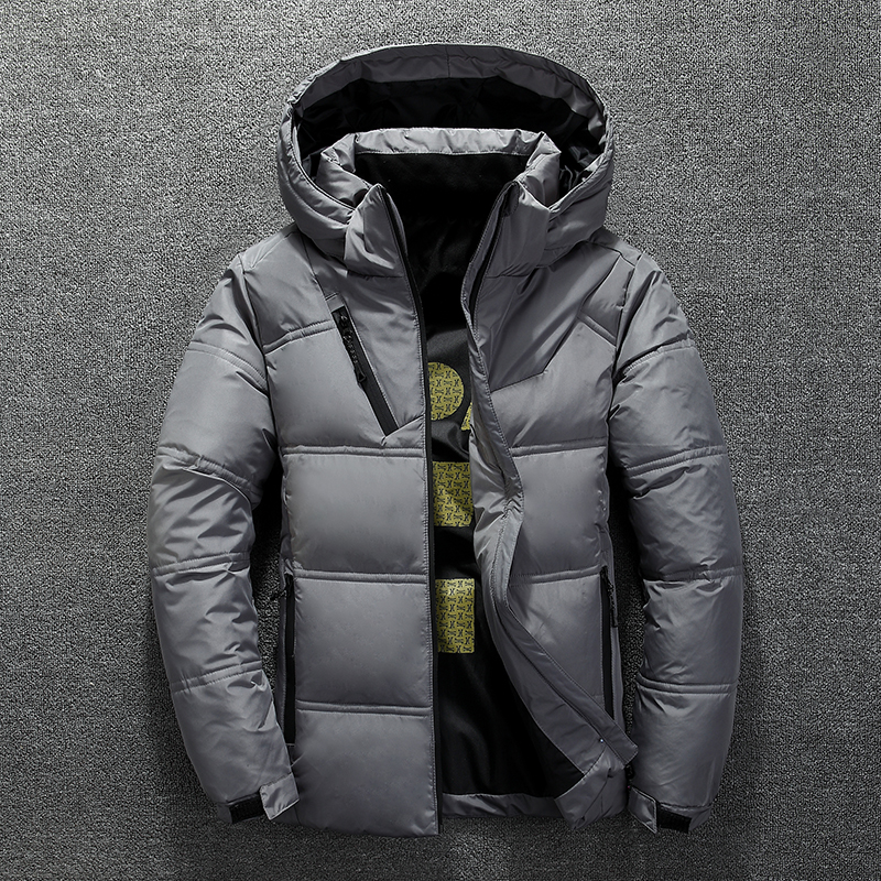 2019 Brand Clothing Men Warm In Winter Slim Fit Casual Down Jacket/Male Hoodie Super Light Thin Down Coats Puffer Jacket Men 3XL