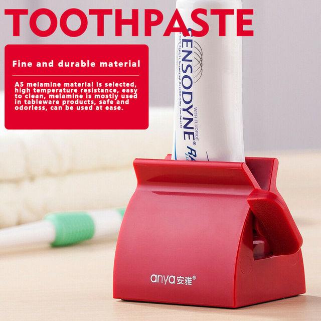 المتداول أنبوب معجون الأسنان عصارة معجون الأسنان سهلة موزع حامل مقعد حامل
