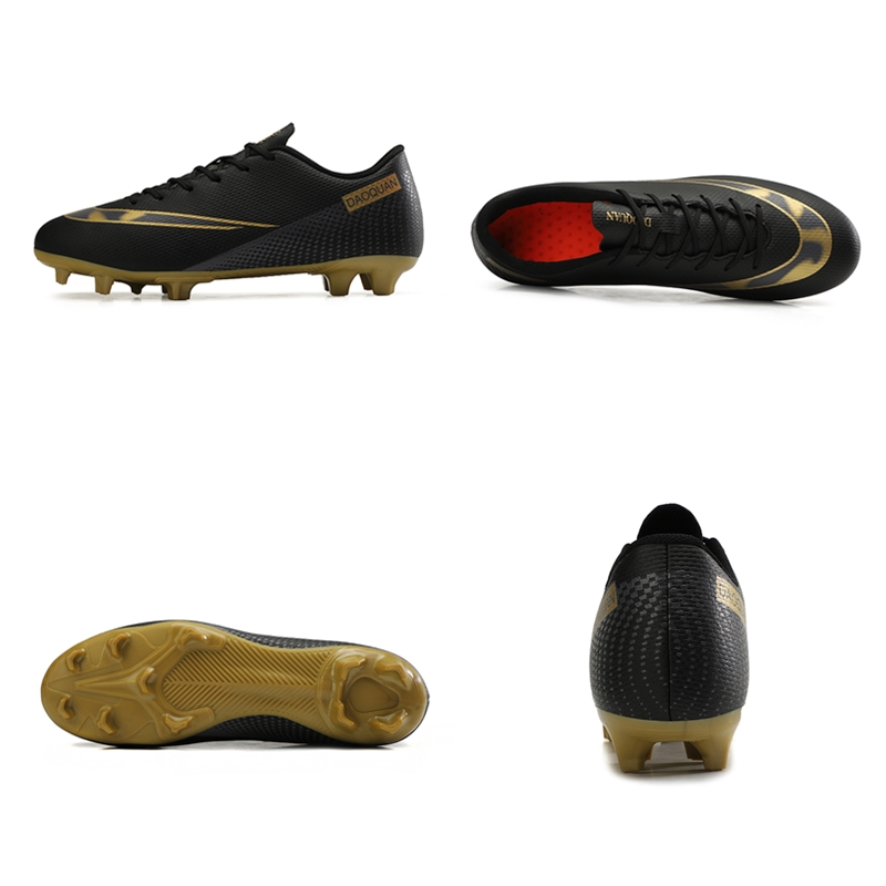 Large Size Long Spikes Soccer Shoes Outdoor Training Football Boots Sneakers Ultralight Non-Slip Sport Turf Soccer Cleats Unisex 2
