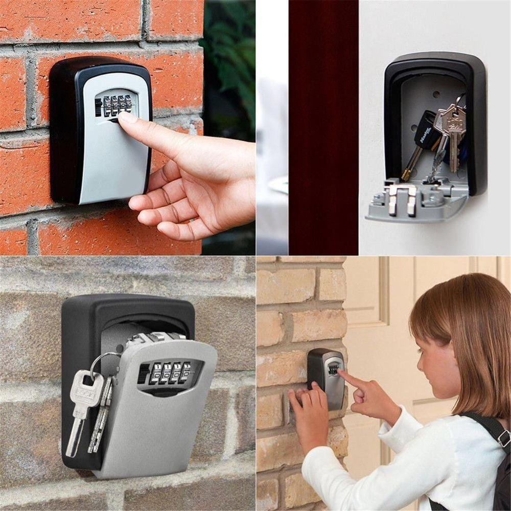 Password Key Box Large Size Decoration Key Code Box Key Storage Lock Box Wall Mounted Password Box Outdoor Key Safe Lock Box