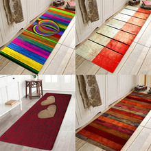 Love board floor pad Wooden floor pad, colored wooden floor pad, flannel print home Anti-Slip absorbent floor pad plate floor pad plate type flower type printing anti slip absorbent flannel home floor pad