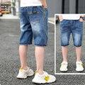 Детские модные летние джинсовые короткие брюки для маленьких мальчиков, одежда Jeasn, повседневные короткие брюки с эластичной талией для мал...