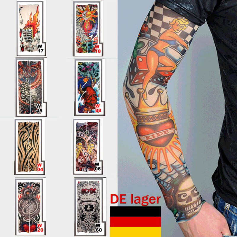 Hot Men Arm Warmers Cycling Bicycle Armlinge Cuff Sleeve Cover UV Sun Protection Leg Summer Tatoo Sleeve