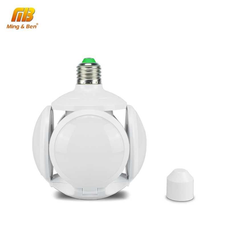 LED Football lampe ampoule haute luminosité Angle réglable Protection des yeux sans scintillement 40W E27 85-265V AC ampoule pliante