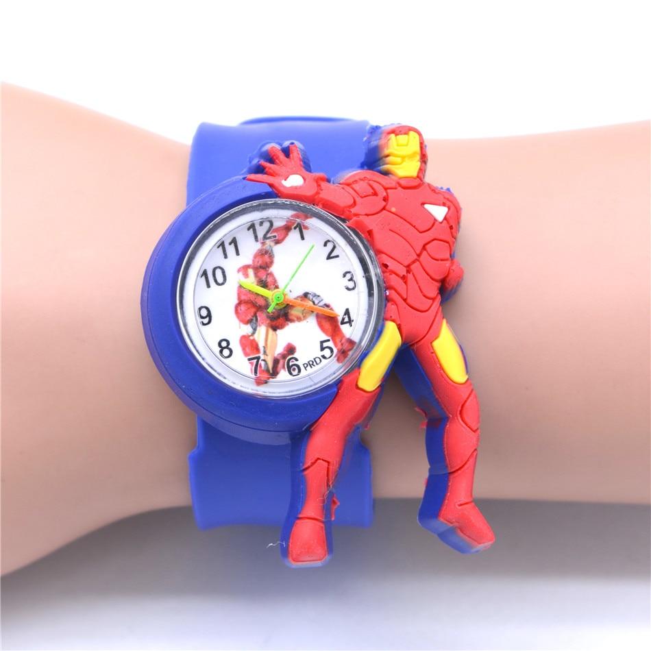 Boy's Toy Ironman Watch Superhero Sport Watches Kids Clock Rubber Belt Quartz Watches