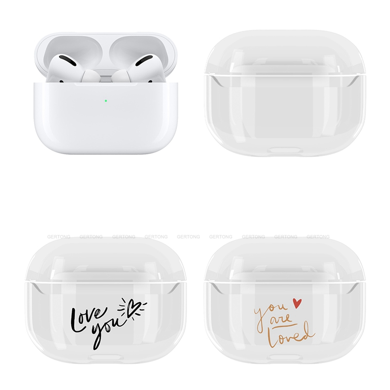 Cute Transparent Hard PC Protective Cover for AirPods Pro 14