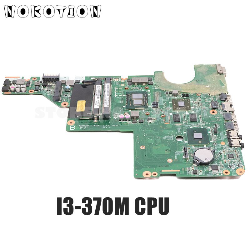 NOKOTION DAAX1JMB8C0 637584-001 For HP Pavilion G62 CQ62 Laptop Motherboard I3-370M CPU HM55 HD6370M 512MB DDR3